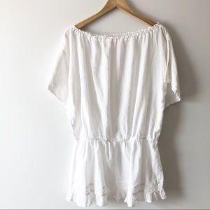 Victoria's Secret White Cover up Top  Small
